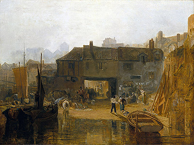 Saltash with the Water Ferry, 1811 | J. M. W. Turner | Giclée Canvas Print