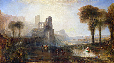 Caligula's Palace and Bridge, 1831 | J. M. W. Turner | Giclée Canvas Print