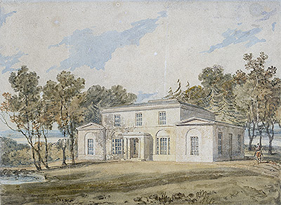 Mansion with Wooded Grounds, undated | J. M. W. Turner | Giclée Paper Print