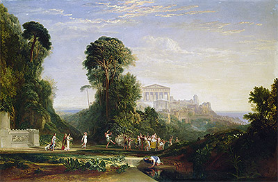 The Temple of Jupiter - Prometheus Restored, undated | J. M. W. Turner | Painting Reproduction