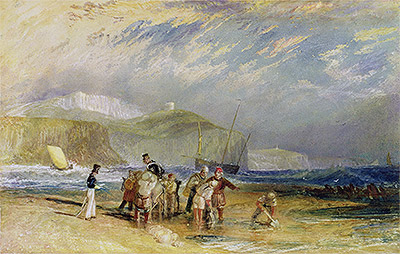 Folkestone Harbour and Coast to Devon, c.1830 | J. M. W. Turner | Painting Reproduction