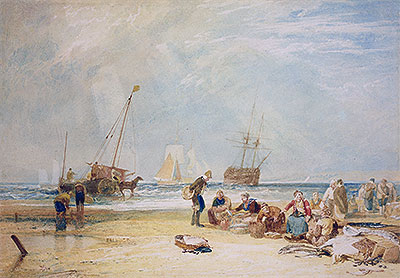 Fishmarket on the Sands, Hastings, undated | J. M. W. Turner | Giclée Paper Print