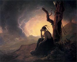 Wright of Derby | The Widow of Indian Chief Watching the Arms of her Deceased Husband | Giclée Canvas Print