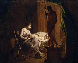 Wright of Derby | Penelope Unraveling Her Web by Lamp Light | Giclée Canvas Print