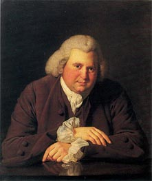 Wright of Derby | Portrait of Erasmus Darwin, c.1770 | Giclée Canvas Print