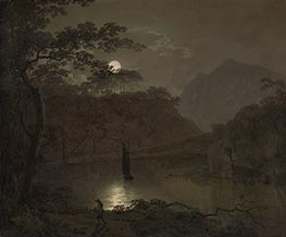Wright of Derby | A Lake by Moonlight, c.1780/82 | Giclée Canvas Print