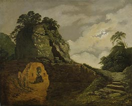 Wright of Derby | Virgil's Tomb by Moonlight, with Silius Italicus, 1779 | Giclée Canvas Print