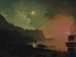 Wright of Derby | Vesuvius from Posillipo, c.1788 | Giclée Canvas Print