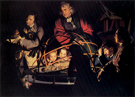 A Philosopher giving that Lecture on the Orrery, 1766 | Wright of Derby | Painting Reproduction