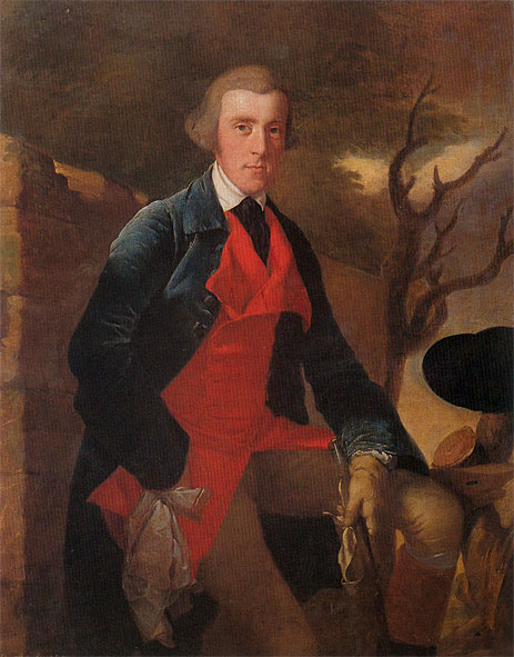 Portrait of Edward Becher Leacroft, c.1763   Wright of Derby   Painting Reproduction