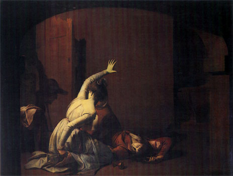 Romeo and Juliet, the Thomb Scene 'Noise again! then I'll be', 1790 | Wright of Derby | Giclée Canvas Print