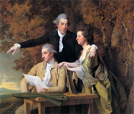 The Rev. D'Ewes Coke his Wife Hannah and Daniel Parker Coke, c.1781/82 | Wright of Derby | Giclée Canvas Print