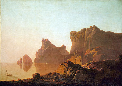 The Gulf of Salerno, c.1783/85 | Wright of Derby | Painting Reproduction