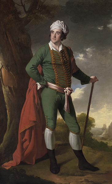Portrait of a Man, Known as the Indian Captain, c.1767 | Wright of Derby | Giclée Canvas Print