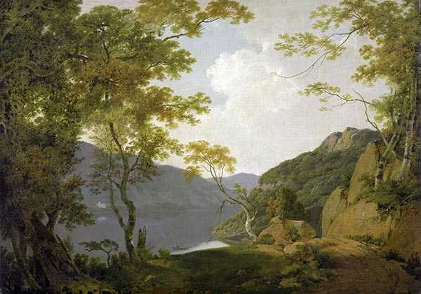 Lake Scene, 1790 | Wright of Derby | Giclée Canvas Print
