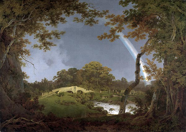 Landscape with a Rainbow, c.1793/94 | Wright of Derby | Giclée Canvas Print