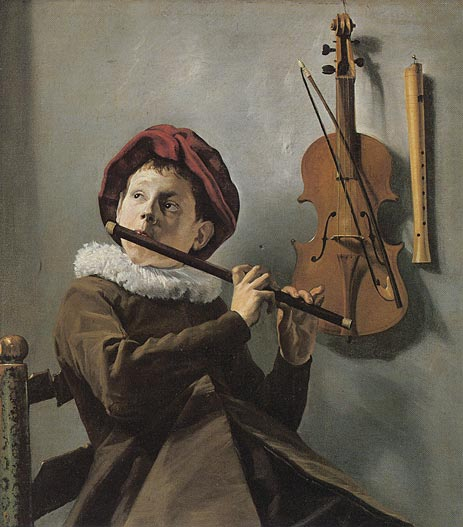 Judith Leyster | The Young Flute Player, c.1630/35 | Giclée Canvas Print