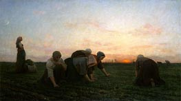 Jules Breton | The Weeders, 1868 | Giclée Canvas Print