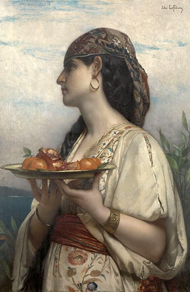 Slave Girl with a Fruit Bowl, 1874 | Jules Joseph Lefebvre | Giclée Canvas Print