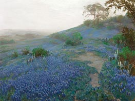 Julian Onderdonk | Blue Bonnet Field, Early Morning, San Antonio, Texas, 1914 | Giclée Canvas Print