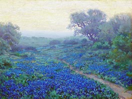 Julian Onderdonk | Bluebonnets at Sunrise, 1917 | Giclée Canvas Print