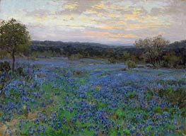Julian Onderdonk | Field of Bluebonnets at Sunset, undated | Giclée Canvas Print