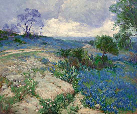 Texas Landscape with Bluebonnets, undated | Julian Onderdonk | Giclée Canvas Print