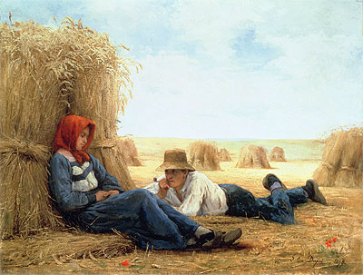 Harvest Time, 1878 | Julien Dupre | Painting Reproduction