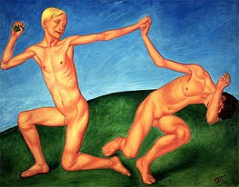 Kuzma Petrov-Vodkin | The Playing Boys, 1911 | Giclée Canvas Print