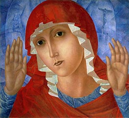 Kuzma Petrov-Vodkin | The Mother of God (The Tenderness of Cruel Hearts), c.1914/15 | Giclée Canvas Print