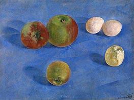 Kuzma Petrov-Vodkin | Still Life, Apples and Eggs | Giclée Canvas Print