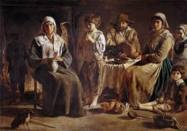 Le Nain Brothers | Peasant Family in an Interior, c.1642 | Giclée Canvas Print