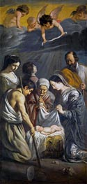 Le Nain Brothers | Adoration of the Shepherds | Giclée Canvas Print