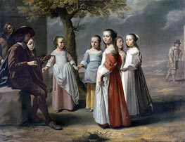 Le Nain Brothers | The Dancing Lesson, c.1641 | Giclée Canvas Print