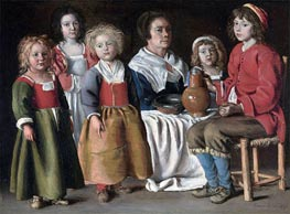 Le Nain Brothers | A Woman and Five Children | Giclée Canvas Print