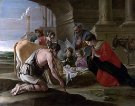 Le Nain Brothers | The Adoration of the Shepherds | Giclée Canvas Print