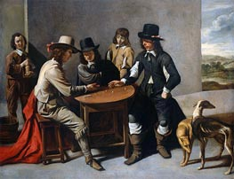 Le Nain Brothers | Dice Players (The Gamblers) | Giclée Canvas Print