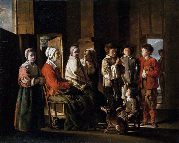 Visit to Grandmother, c.1645/48 | Le Nain Brothers | Giclée Canvas Print