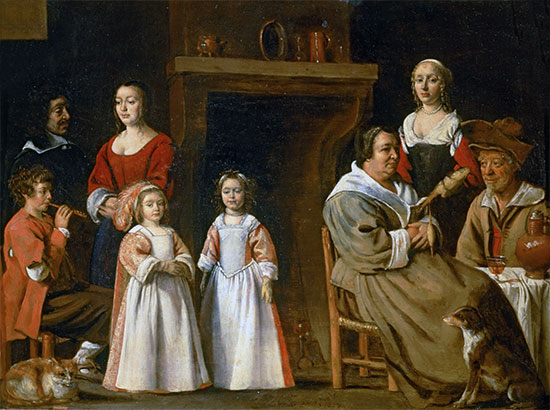 Portraits in an Interior, 1647 | Le Nain Brothers | Painting Reproduction