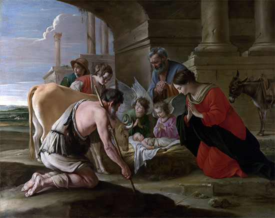 The Adoration of the Shepherds, c.1640 | Le Nain Brothers | Giclée Canvas Print
