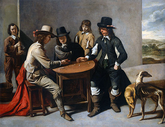 Dice Players (The Gamblers), c.1630/80 | Le Nain Brothers | Giclée Canvas Print