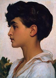 Frederick Leighton | Portrait of Paolo | Giclée Canvas Print