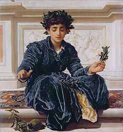 Frederick Leighton | Weaving the Wreath, 1872 | Giclée Canvas Print