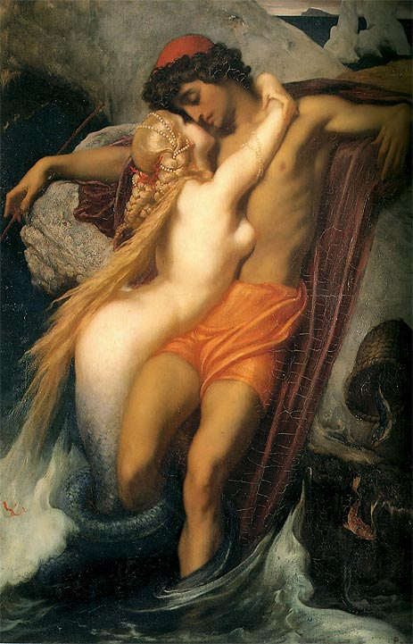 The Fisherman and the Syren, 1857 | Frederick Leighton | Painting Reproduction