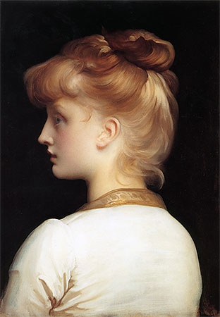 Profile of a Girl, undated | Frederick Leighton | Giclée Canvas Print