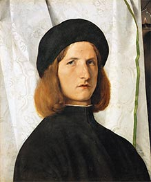 Lorenzo Lotto | Young Man before a White Curtain, c.1508 | Giclée Canvas Print