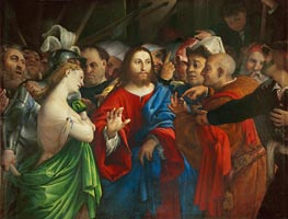 Lorenzo Lotto | The Woman Taken in Adultery | Giclée Canvas Print