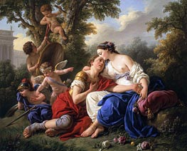 Lagrenee | Rinaldo and Armida, 1766 | Giclée Canvas Print