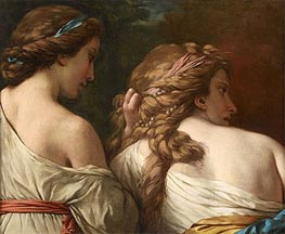 Lagrenee | Two Nymphs | Giclée Canvas Print