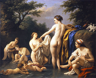 Venus and Nymphs Bathing, 1776 | Lagrenee | Painting Reproduction
